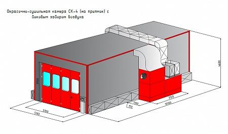 Современная окрасочная камера - вентиляция и фильтрация